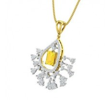 Natural Diamond & Gemstone Pendant 1.61 CT / 5.36 gm Gold