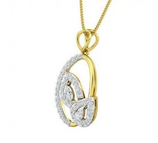 Natural Diamond Pendant 0.70 CT / 5.44 gm Gold