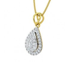 Natural Diamond Pendant 0.44 CT / 1.40 gm Gold
