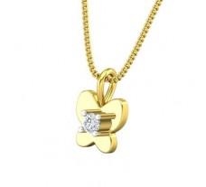 Natural Diamond Pendant 0.065 CT / 0.65 gm Gold