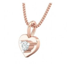 Natural Diamond Pendant 0.065 CT / 0.50 gm Gold