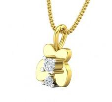 Natural Diamond Pendant 0.09 CT / 0.75 gm Gold