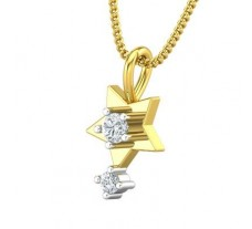Natural Diamond Pendant 0.09 CT / 0.65 gm Gold