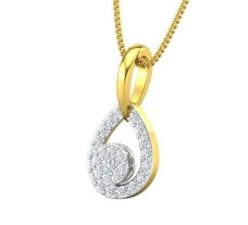 Natural Diamond Pendant 0.26 CT / 1.20 gm Gold