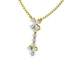 Natural Diamond Pendant 0.36 CT / 1.21 gm Gold