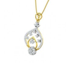 Natural Diamond Pendant 0.66 CT / 2.54 gm Gold