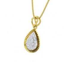 Natural Diamond Pendant 0.34 CT / 1.33 gm Gold