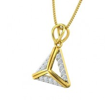 Natural Diamond Pendant 0.25 CT / 1.40 gm Gold