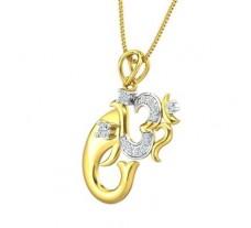 Natural Diamond Pendant 0.19 CT / 2.52 gm Gold