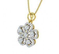 Natural Diamond Pendant 0.59 CT / 1.70 gm Gold