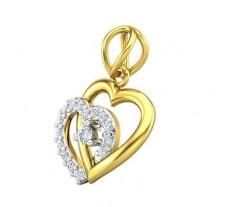 Natural Diamond Pendant 0.20 CT / 1.62 gm Gold