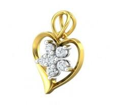 Natural Diamond Pendant 0.30 CT / 1.78 gm Gold