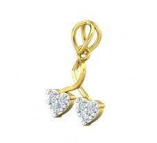 Natural Diamond Pendant 0.18 CT / 0.86 gm Gold