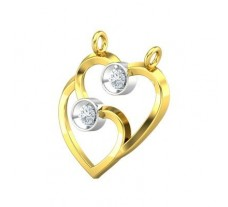 Natural Diamond Pendant 0.10 CT / 1.18 gm Gold