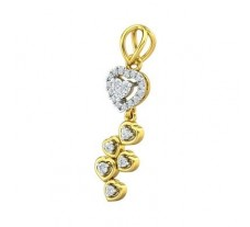 Natural Diamond Pendant 0.16 CT / 1.19 gm Gold