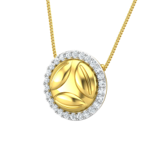 Natural Diamond Pendant 0.44 CT / 3.20 gm Gold