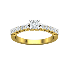 PreSet Natural Solitaire Diamond Ring 0.69 CT / 3.40 gm Gold