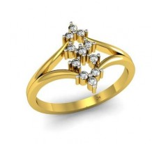 Natural Diamond Ring 0.17 CT / 2.06 gm Gold