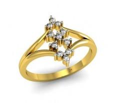 Natural Diamond Ring 0.17 CT / 2.06 gm Gold