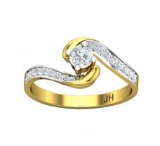 Natural Diamond Ring 0.41 CT / 2.18 gm Gold