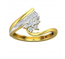 Natural Diamond Ring 0.24 CT / 2.80 gm Gold