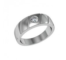Natural Solitaire Diamond Ring for Men 0.25 CT / 9.00 gm Gold
