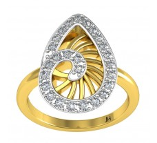 Natural Diamond Designer Ring 0.31 CT / 3.50 gm Gold