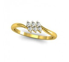 Natural Diamond Designer Ring 0.12 CT / 1.80 gm Gold