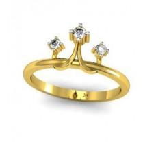 Natural Diamond Designer Ring 0.09 CT / 2.46 gm Gold