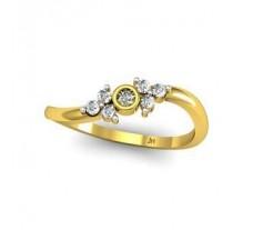 Natural Diamond Designer Ring 0.12 CT / 2.19 gm Gold