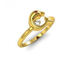 Natural Diamond & Gemstone Ring Gold