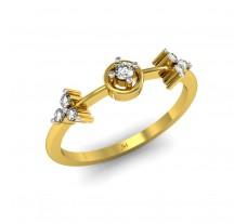Natural Diamond Designer Ring 0.13 CT / 2.27 gm Gold