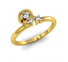 Natural Diamond Designer Ring 0.08 CT / 2.52 gm Gold