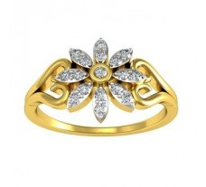 Natural Diamond Ring 0.17 CT / 2.50 gm Gold