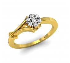 Natural Diamond Ring 0.14 CT / 2.63 gm Gold