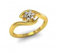 Natural Diamond Ring 0.09 CT / 2.10 gm Gold