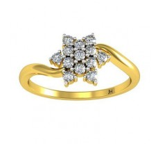 Natural Diamond Ring 0.22 CT / 1.75 gm Gold