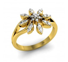 Natural Diamond Ring 0.21 CT / 3.05 gm Gold