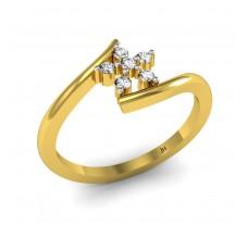Natural Diamond Ring 0.10 CT / 1.85 gm Gold