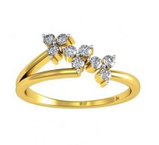Natural Diamond Ring 0.20 CT / 1.87 gm Gold