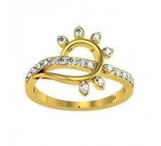 Natural Diamond Ring 0.30 CT / 2.38 gm Gold