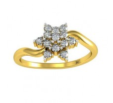 Natural Diamond Ring 0.26 CT / 2.40 gm Gold