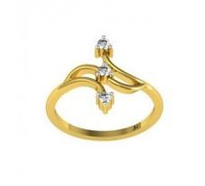 Natural Diamond Ring 0.13 CT / 1.96 gm Gold