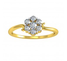Natural Diamond Ring 0.24 CT / 1.80 gm Gold