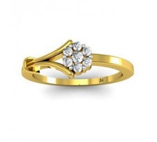 Natural Diamond Ring 0.12 CT / 2.04 gm Gold