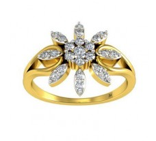 Natural Diamond Ring 0.28 CT / 2.68 gm Gold