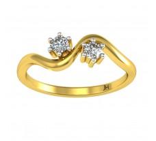 Natural Diamond Ring 0.14 CT / 2.10 gm Gold