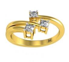 Natural Diamond Ring 0.15 CT / 2.83 gm Gold