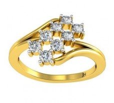 Natural Diamond Ring 0.36 CT / 3.07 gm Gold