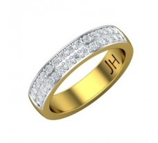 Natural Diamond Band 0.56 CT / 5.40 gm Gold